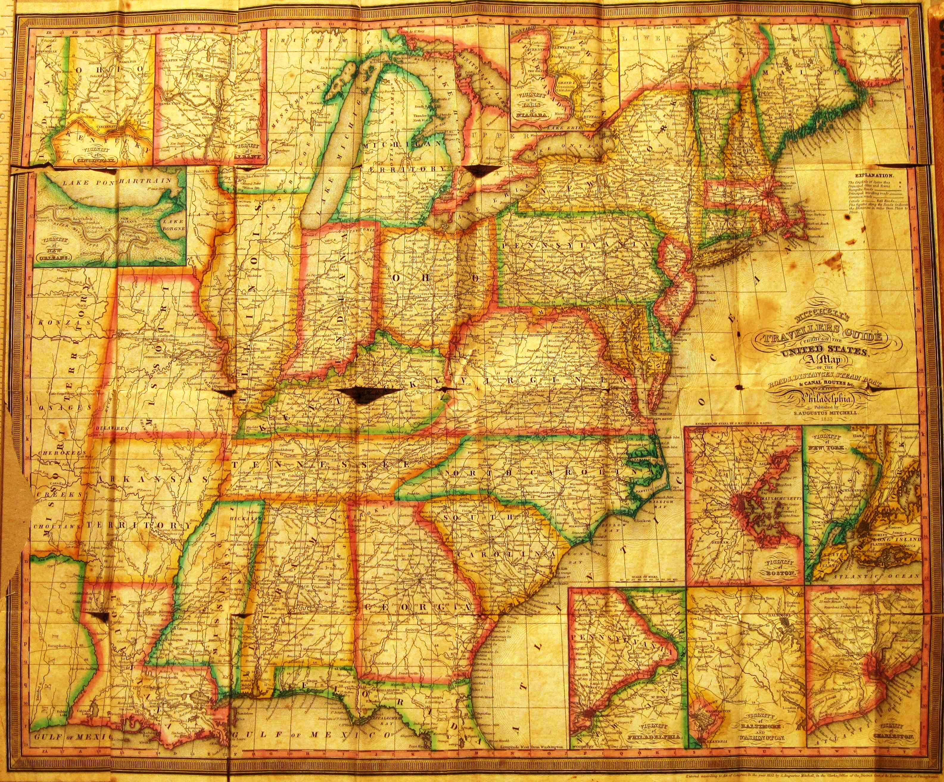 Pennsylvania in Early Pocket Maps